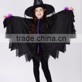 Carnival children's witch fancy dress costume with hat party Halloween child bat costume