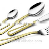 High Quality gold plated stainless steel cutlery