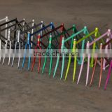 Single speed steel frame retro bicycle frame colorful retro frame with lugs
