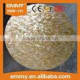 Natural yellow mother of pearl seashell mosaic round table top