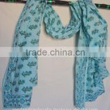 Hand Block Print Pure Cotton Printed Scarf Sarong Indian Mufflers Manufactures