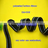 eco-friendly Wholesale polyester/cotton black ribbon customized webbing Cotton Webbing Bag Straps