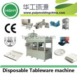 wood pulp tableware making machine export from China factory