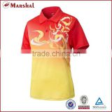 Sublimation badminton shirt,No logo volleyball shirt,thai quality couple's polo shirt