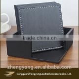 Cup mat pad table protector, anti-slide, various shapes, in pu leather