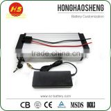FCC/CE/ROSH Certified Battery Pack 48V 10AH Electric Bicycle Battery with Aluminium Case for 800W Motor