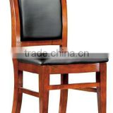 Antique design good soft pad seating wood and PU leather meeting/guest chair(FOHF-82#)