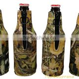 Camo neoprene Beer beverage bottle holder cooler sleeve