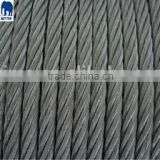 7X7 3mm steel wire rope in steel core