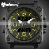 INFANTRY Yellow Outdoor Silicone Army Digital Quartz MEN'S Watch