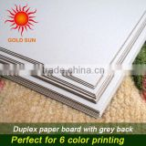 White Coated Duplex Board Grey Back 300gsm