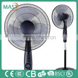16 Inches Black Stand Fan With Adjustable Oscillating Head For South African market Made in china