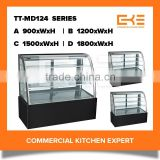 Competitive Prices Commercial Free Standing Glass Modern Bakery Refrigerated Cake Display Showcases Display Cabinet