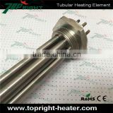 3phases 240v 1.5 NPSM thread stainless steel tubular heater fast heating element with flange