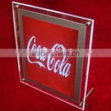 hot selling silkscreen thick acrylic led sign holder
