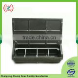 Double plastic pig feed water trough