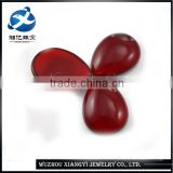 Hot sale glass stone for 2015 China Beautiful Pear Shape Garnet glass stone for jewelry