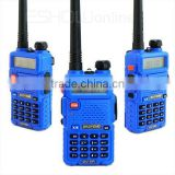Blue VHF136-174MHz & UHF400-520MHz Baofeng Dual Band 5W 128CH UHF VHF walkie talkie Interphone UV5R UV-5R