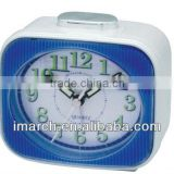 light blue square alarm clock,table clock