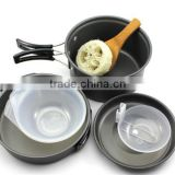 Outdoor Camping Hiking Cookware Backpacking Cooking Picnic Bowl Pot Pan Set