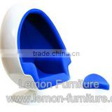 Fashionable top sell fiberglass shell swan chair