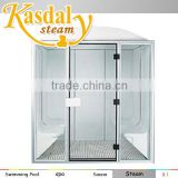 Luxury acrylic steam room sauna room/steam sauna shower combination computer steam sauna room