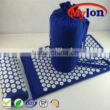 2016 hot sale massage acupressure mat and pillow set,acupressure mat and pillow with bonus carry bag