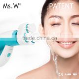 Ms.W 2017 New Innovative Design Electric Clear Sonic Silicone Facial Cleansing Brush For Daily Facial Care