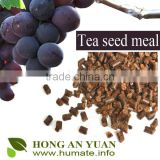 bio organic fertilizer tea seed cake/tea seed meal for golf grass/ tea seed powder for turf grass