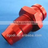 red anodized aluminum wheel hub spacer