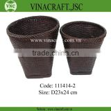 Bamboo waste baskets set of two