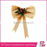 China factory supply crafts decorations christmas tartan bow/christmas ribbon bow for christmas market
