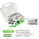 93 piece rotary tool accessories set