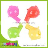 High quality cheap toy kids cheering small plastic toy whistle
