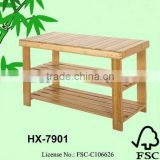 FSC certificated China Manufacturer Three Layer Bamboo Shoe Rack