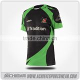 sublimated rugby jersey 100%polyester dri fit fabric