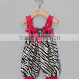 New Zebra Satin Baby Rompers Cheap Infant Gowns Girl Cute Baby Clothes Girl Newborn RR90425-19