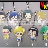 Hot Japan Anime Yowamushi Pedal 8 pieces per set acrylic keychains key ring cut