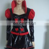 Halloween Party adult fancy dress red Queen of Hearts costume WC-0011