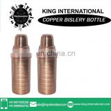 Copper water bottles / solid copper water storeage / 1 liters solid copper bottle