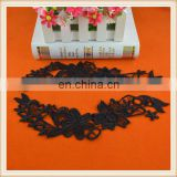 attractive elegant floral lace motifs black embroidery crochet polyester lace collars for dress
