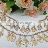 hot sell pearl metal chain trim on clothing bags garment accessories