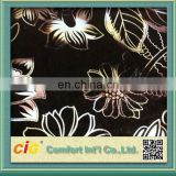 2014 High Quality Oem Ningbo New Design Pretty Flocked Upholstery Fabrics 100% Polyester Flower