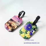 Sublimation MDF Luggage Tag Creative printing Suitcase ID Travel Address Holder Boarding Tags Fun