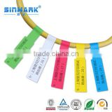 SINMARK adhesive plastic cable marking tags cable label