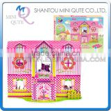 Mini Qute Princess Cabin Girls building blocks 3d paper puzzle diy model cardboard jigsaw puzzle game educational toy NO.B468-16