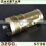DAKSTAR ST36 3250LM 18650 High Power Rechargeable Aluminum Police CREE XML T6 LED Flashlight