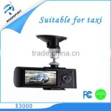 "Two channel car black box 2.7""TFT car camera with GPS for taxi"