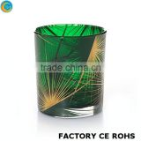 christmas glass balls square candleholder economic candlesticks / machine production votive candles