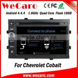 "Wecaro WC-WC7049 7"" Android 4.4.4 car stereo 2 din for chevrolet cobalt android gps navigation WIFI 3G bluetooth"